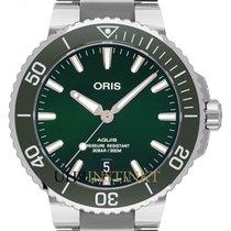 Oris Steel Automatic Green 39.5mm new Aquis Date