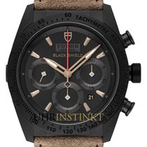 Tudor Fastrider Black Shield neu 2020 Automatik Chronograph Uhr mit Original-Box und Original-Papieren M42000CN-0016