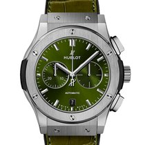 Hublot Classic Fusion Chronograph Titanium 42mm Green No numerals United Kingdom