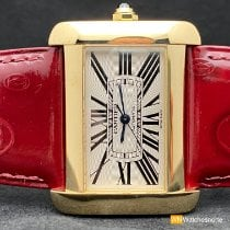 Cartier Tank Divan Yellow gold 38mm White Roman numerals