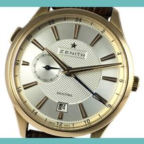 Zenith Elite Dual Time Rose gold 40mm Silver No numerals