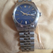 Rolex Oyster Precision Steel 34mm Blue No numerals United Kingdom, Pudsey