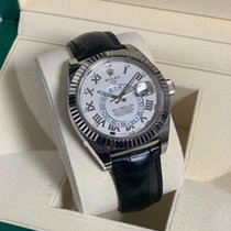 Rolex White gold Automatic White Roman numerals 42mm new Sky-Dweller