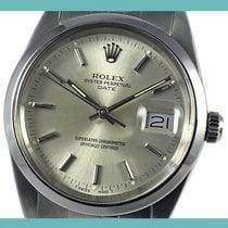 Rolex Oyster Perpetual Date Stahl 34mm Silber Keine Ziffern