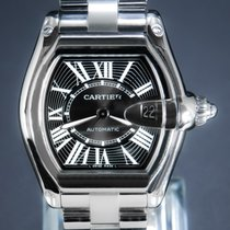 Cartier Roadster Steel 38mm Black Roman numerals