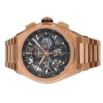 Zenith Defy El Primero Rose gold 44mm Transparent No numerals United States of America, New York, Greenvale