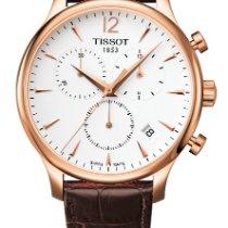 Tissot Tradition Pозовое золото 42mm Белый Aрабские