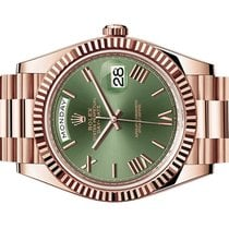 Rolex Day-Date 40 occasion 40mm Brun Date Or rose