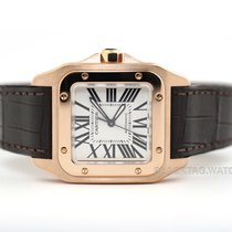 Cartier Santos 100 Rose gold 34mm Silver Roman numerals United States of America, Florida, Aventura