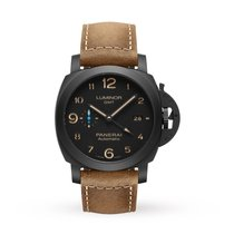 Panerai Luminor 1950 3 Days GMT Automatic Ceramic 44mm Black Arabic numerals United States of America, Iowa, Des Moines