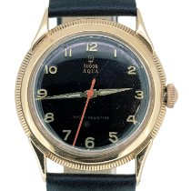 Tudor Rose gold Manual winding Black Arabic numerals 34mm pre-owned