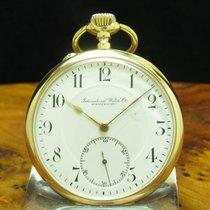 IWC Uhr gebraucht Gelbgold 50.4mm Arabisch Handaufzug Nur Uhr