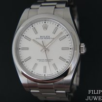 Rolex Oyster Perpetual 39 Staal 39mm Wit Nederland, Maastricht