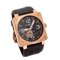 Bell & Ross BR 01-97 Réserve de Marche Rose gold 46mm Black Arabic numerals