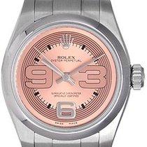 롤렉스 오이스터 퍼페츄얼 26 스틸 26mm 핑크