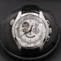 Zenith El Primero pre-owned 46mm Silver Chronograph Leather