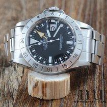Rolex Explorer II Acier 40mm Noir Sans chiffres