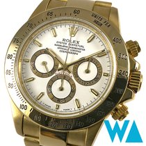 Rolex Daytona occasion 40mm Blanc Chronographe Or jaune