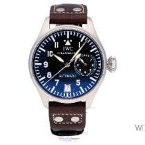IWC Big Pilot tweedehands 46mm Zwart Datum Leer