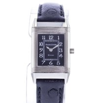 Jaeger-LeCoultre White gold Manual winding Black 20mm pre-owned Reverso (submodel)