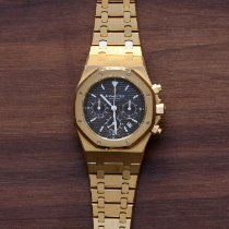 Audemars Piguet Royal Oak Chronograph Or jaune Noir France, Paris