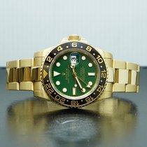 Rolex Or jaune Remontage automatique Vert Sans chiffres 40mm occasion GMT-Master II