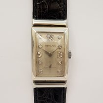 Hamilton White gold Manual winding pre-owned