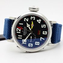 Zenith Pilot Type 20 GMT pre-owned 48mm Black GMT Leather