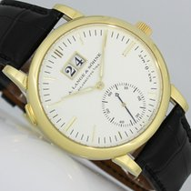 A. Lange & Söhne Langematik Yellow gold 37mm Silver (solid) No numerals