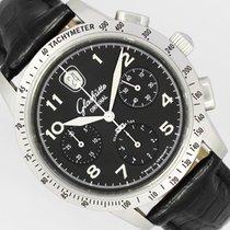 Glashütte Original Senator Navigator Chronograph Steel 39mm Black Arabic numerals