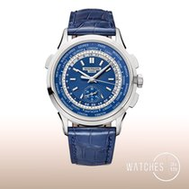 Patek Philippe World Time Chronograph White gold 39.5mm Blue United States of America, New York, New York
