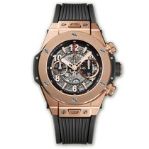 Hublot Big Bang Unico Oro rosa 45mm Transparente Arábigos