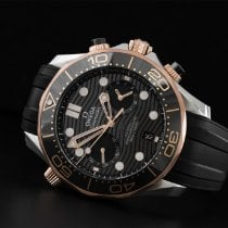 Omega Seamaster Diver 300 M pre-owned 44mm Black Chronograph Date Rubber