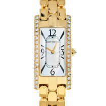 Harry Winston Avenue pre-owned 19mm Mother of pearl Yellow gold