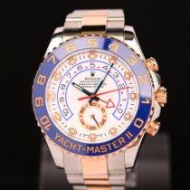 Rolex Yacht-Master II Gold/Stahl 44mm Weiß Keine Ziffern