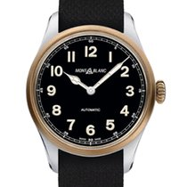 Montblanc 1858 Steel 40mm Black Arabic numerals