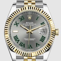 Rolex Datejust Gold/Steel 41mm Green No numerals United States of America, New Jersey, Totowa