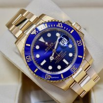 Rolex Submariner Date Yellow gold 40mm Blue No numerals United States of America, Virginia, Arlington