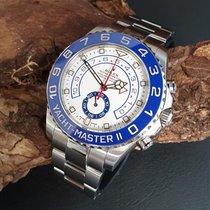 Rolex Stahl Automatik Weiß 44mm gebraucht Yacht-Master II