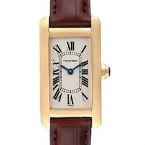 Cartier Tank Américaine Yellow gold 19mm Silver Roman numerals