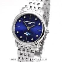Frederique Constant Slimline Moonphase Acier 30mm Bleu
