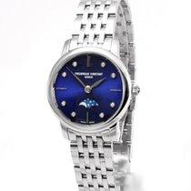 Frederique Constant Slimline Moonphase Acciaio 30mm Blu