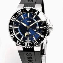 Oris Aquis GMT Date Acier 43.5mm Bleu Sans chiffres
