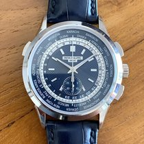 Patek Philippe World Time Chronograph 39.5mm Blauw