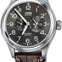 Oris Big Crown ProPilot Worldtimer Steel 44.7mm Grey Arabic numerals