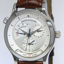 Jaeger-LeCoultre Master Geographic pre-owned 38mm Silver Date Leather