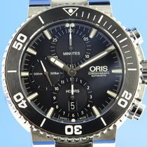 Oris Aquis Chronograph pre-owned 46mm Black Chronograph Date Steel