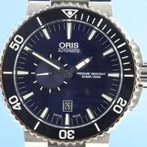 Oris Aquis Small Second pre-owned 46mm Blue Date Steel