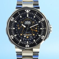Oris ProDiver Pointer Moon pre-owned 49mm Black Moon phase Date Titanium