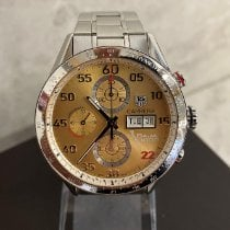 TAG Heuer Carrera Calibre 16 pre-owned 43mm Gold Chronograph Date Steel